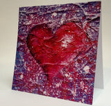 Love Purple Blank Greeting Card