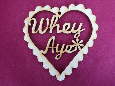Wooden Whey Aye Decoration