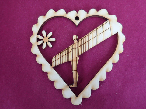 Wooden Angel of the North Decoration
