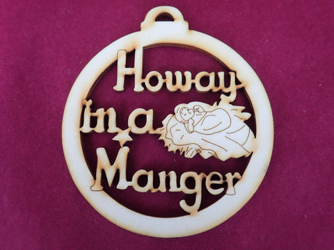 Howay in a Manger Decoration