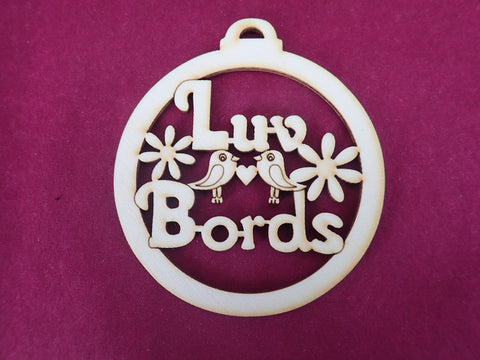 Wooden Luv Bords Decoration