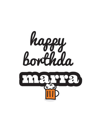 Geordie Happy Borthda Marra Card