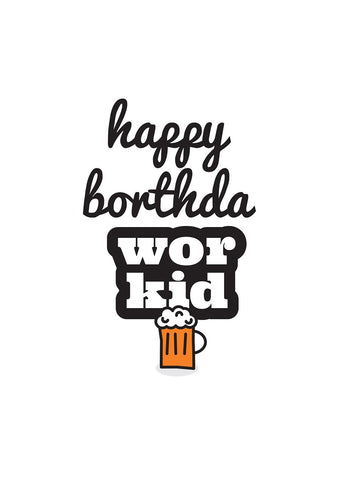 Geordie Happy Borthda Wor Kid Card