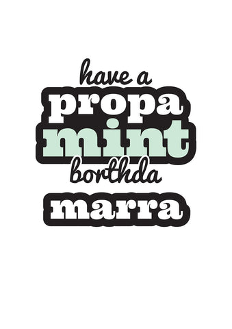 Geordie Propa Mint Borthda Marra Card