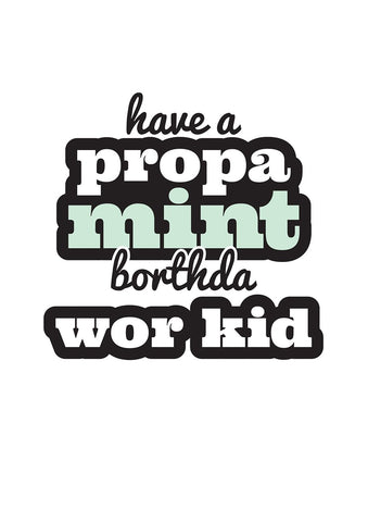 Geordie Propa Mint Borthda Wor Kid Card