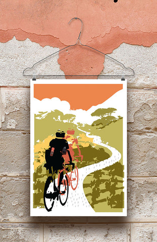 Head In The Clouds Cycling Print