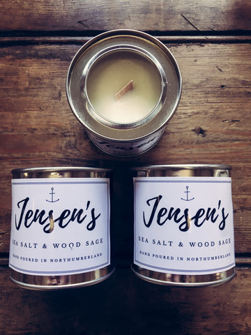 Jensen's Sea Salt & Wood Sage Mini Candle