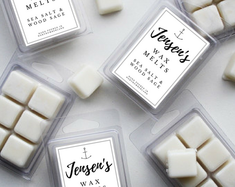 Jensen's Sea Salt & Wood Sage Wax Melts