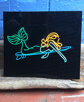 Mermaid Neon Art