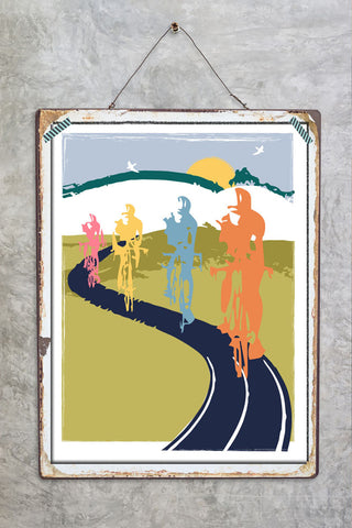 Out In The Countryside Cycling Print