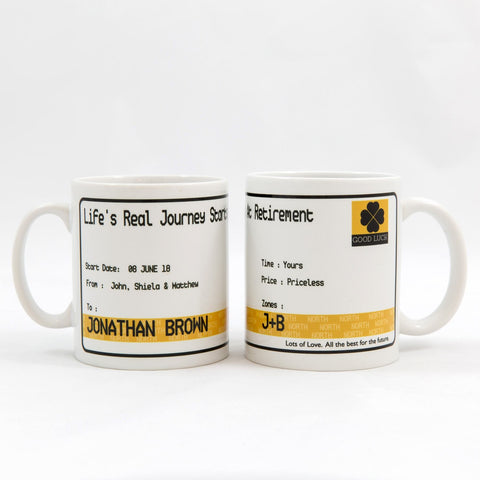 Metro Ticket Personalised Mug Gift