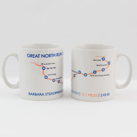 Great North Run Personalised Results Mug