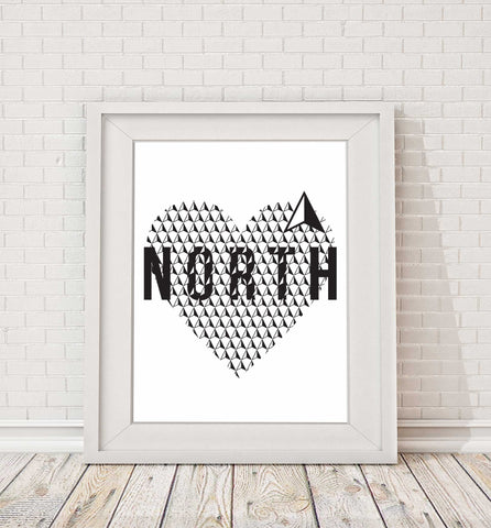North Heart Print