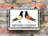 Northern Lovebirds Pigeon Print