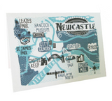 Newcastle Map Card