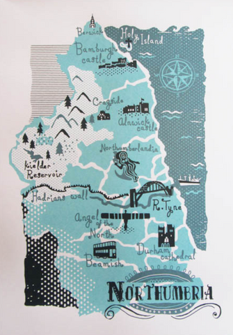 Northumbrian Map A3 Print