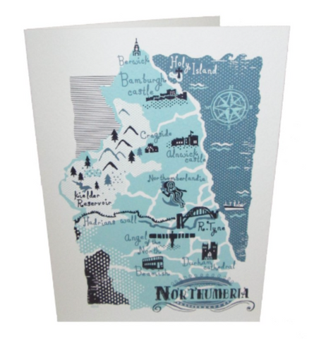 Northumbrian Map Card