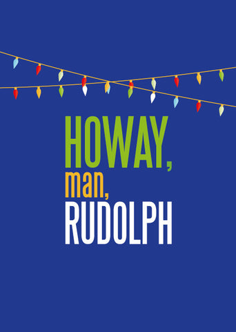 Howay Man Rudolph Card