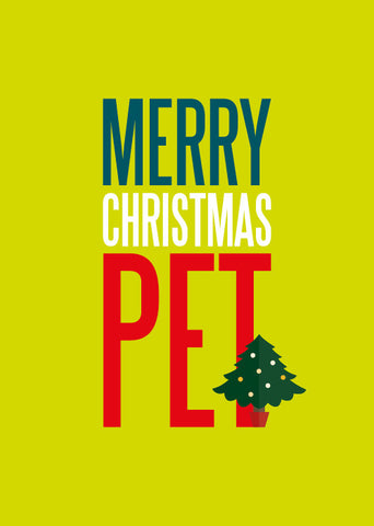 Merry Christmas Pet Card
