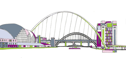 Tyne & Millennium Bridge, Newcastle and Gateshead Print