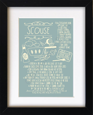Scouse Recipe Mounted Print