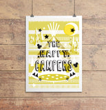 Happy Campers Print Yellow