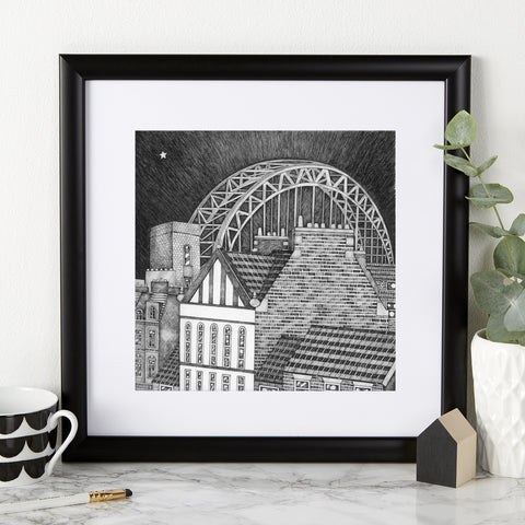 Tyne Bridge 30cm Square Print