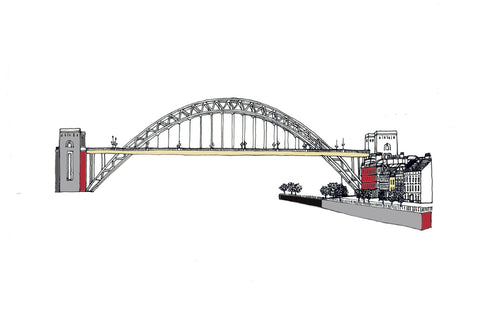 Tyne Bridge & Quayside Print