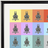 Pop Art Vampire Rabbits Print