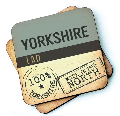 Yorkshire Lad Wooden Coaster  by Wotmalike
