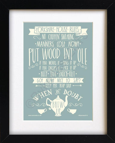 Yorkshire Rules Mounted Print