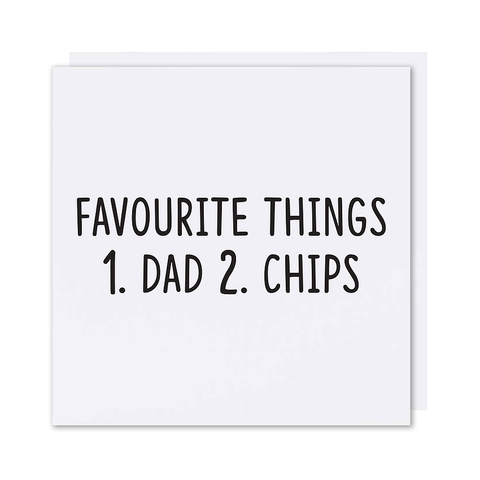 Favourite Things Card