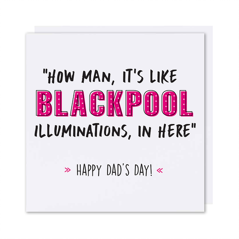 Blackpool illuminations Card