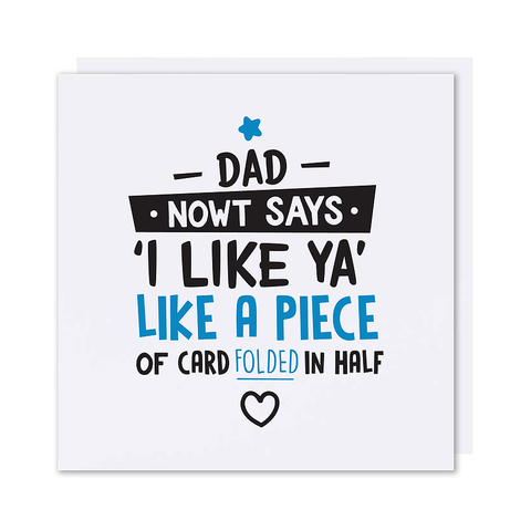 Father's Day 'I Like Ya' Card