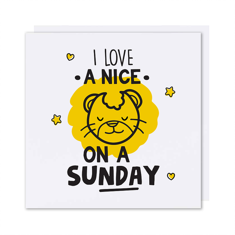 I Love A 'Lion' On A Sunday Card