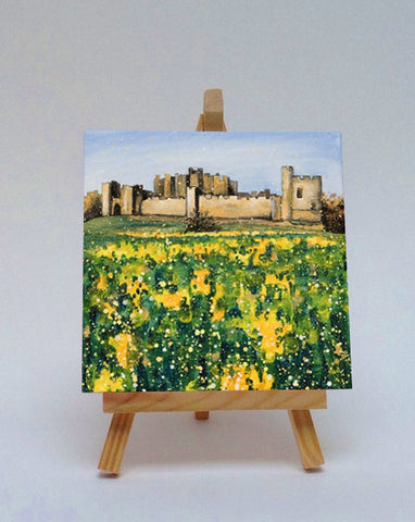 Ceramic tile with easel Alnwick Castle