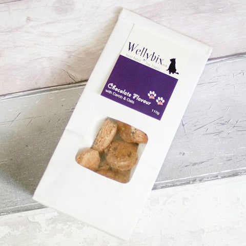 Chocolate Flavour with Carob Dog Biscuits 110g