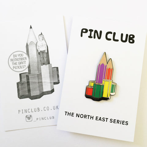 Newcastle Giant Pencils Enamel Pin