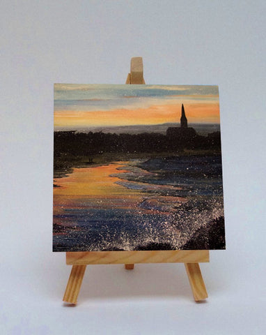 Ceramic tile with easel Longsands Tynemouth
