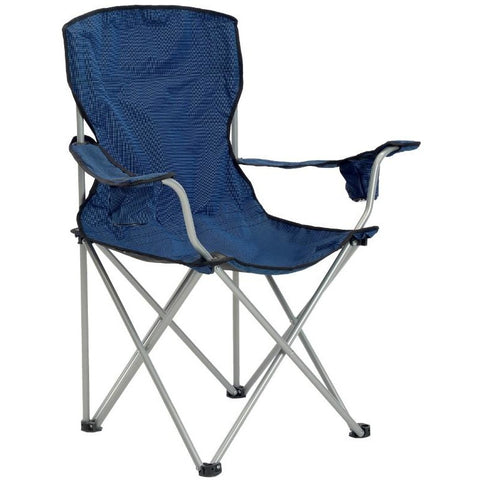 Deluxe Quad Chair, Navy/Black Fabric, Silver Frame - Buy Online at YardEpic.com