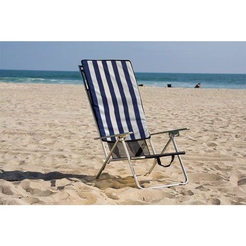 Beach Recliner Shade Chair with Overhead Canopy - Buy Online at YardEpic.com