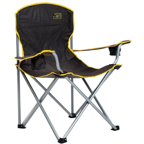 Heavy Duty Chair Supports 500 lbs in Black or Gray Fabric - Buy Online at YardEpic.com