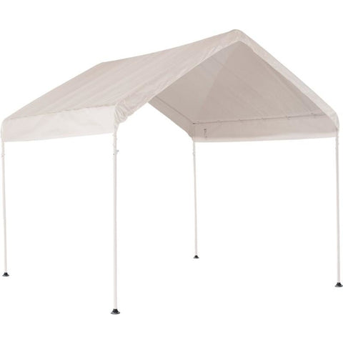 "10'×10' Canopy, 1-3/8"" 4-Leg Frame, White Cover - Buy Online at YardEpic.com"
