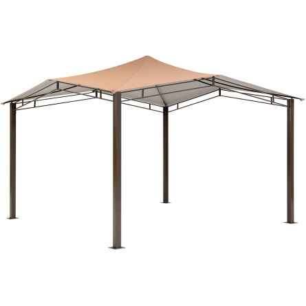 12x12 Backyard Sequioa Gazebo Canopy in Brown - Buy Online at YardEpic.com