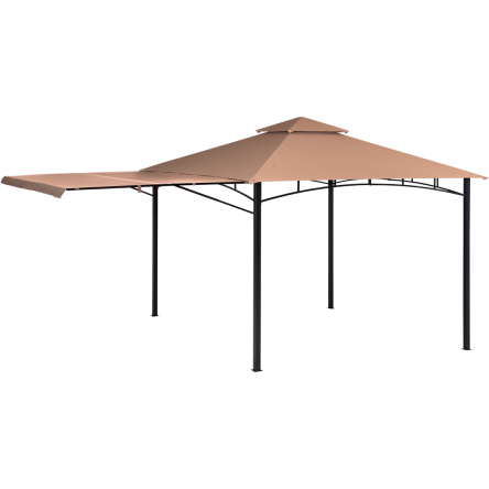 Redwood 11x11 Gazebo with Retractable Shade Awning