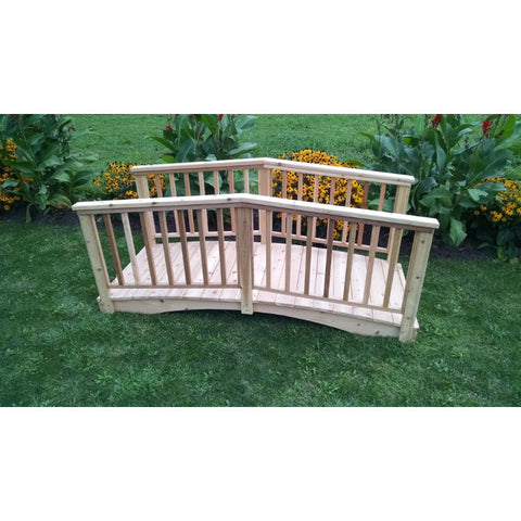 Baluster Bridge Cedar with Handrails - Buy Online at YardEpic.com