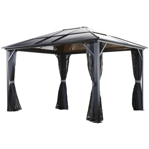 Meridien Gazebo 10x12, 10x14, or 12x16 Frame Grey Roof Tinted - Buy Online at YardEpic.com