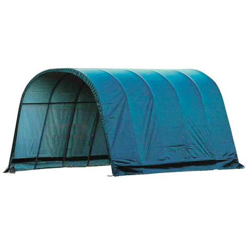 12x20x10 Round Style Shelter, Run-In Green Cover - Buy Online at YardEpic.com
