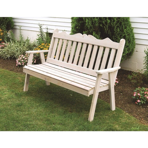 Royal English Garden Bench in Cedar - Buy Online at YardEpic.com