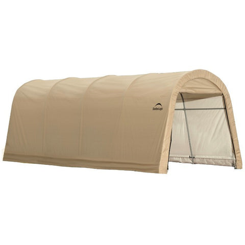 10x20x8 ft. Round Style Auto Shelter, 5-Rib Frame, Sandstone Cover - Buy Online at YardEpic.com